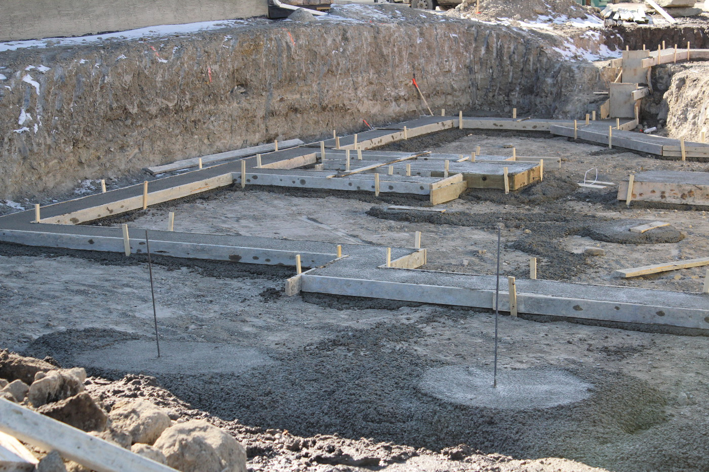 Harder homes the construction process for Foundation for homes